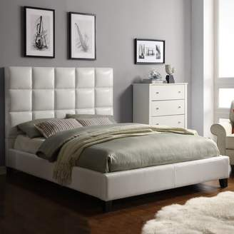 Homevance HomeVance Tufted Faux Leather Queen Bed