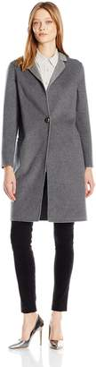 Nanette Lepore Women's Elegant Double Faced Single Breasted Wool Blend Coat