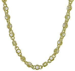 "Judith Ripka 14K Clad & Diamonique Rolling 18""Necklace"
