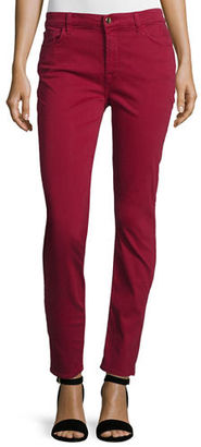 JEN7 Brushed Sateen Skinny Ankle Jeans $149 thestylecure.com