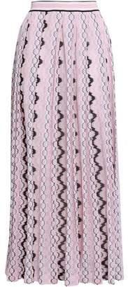 Missoni Pleated Crochet-knit Midi Skirt