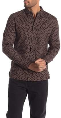 AllSaints Orleans Flannel Long Sleeve Regular Fit Shirt