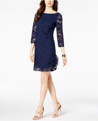 Vince Camuto Ruffled Lace Dress