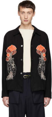 Our Legacy Black Embroidery Tree Box Shirt