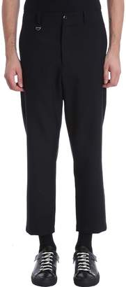 Oamc Cropped Black Wool Pants