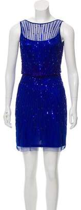 Aidan Mattox Embellished Cocktail Dress