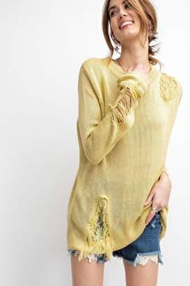 Easel Margarita Ripped Sweater