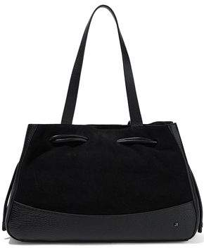 Halston Suede And Textured-Leather Tote