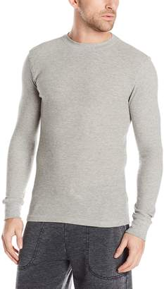 Bottoms Out Men's Long Sleeve Crew Neck Thermal Shirt Waffle Knit