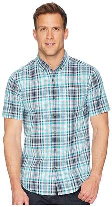 Royal Robbins Mid-Coast Seersucker Plaid Short Sleeve Men's Short Sleeve Button Up