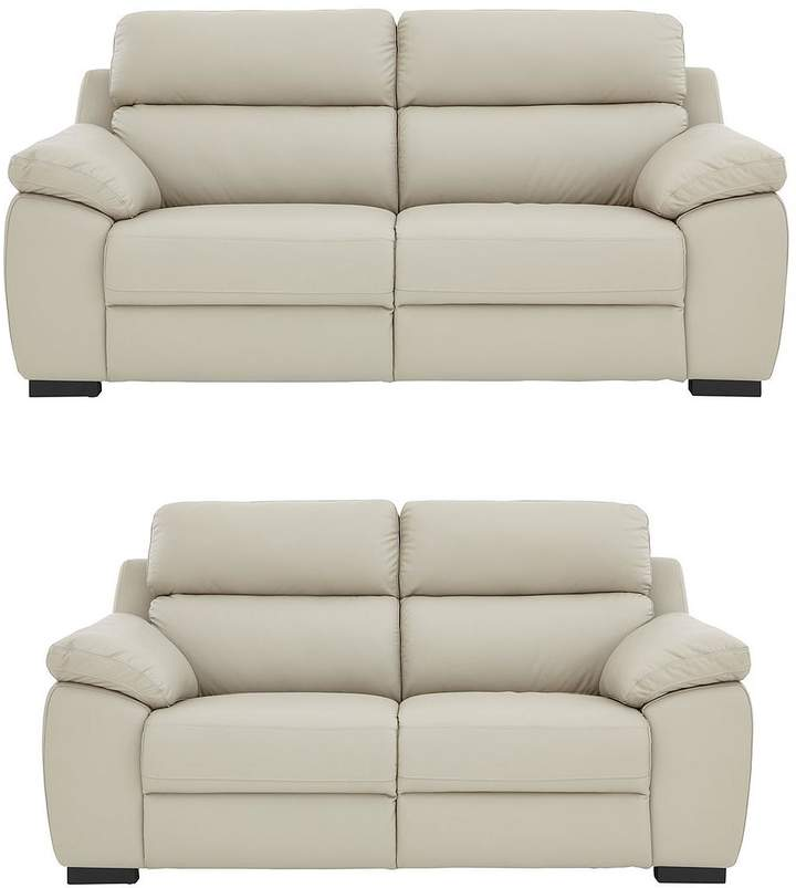 Quebec 3-Seater + 2-Seater Premium Leather Sofa Set