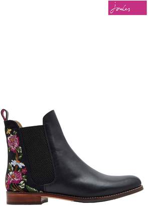 Next Womens Joules Black Westbourne Embroidered Boot
