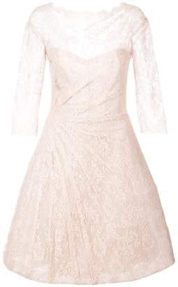 Monique Lhuillier lace detail flared dress