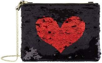 Harrods Exmoor Sequin Heart Chain Bag