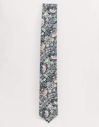 Gianni Feraud Liberty Print Strawberry Thief Cotton Tie