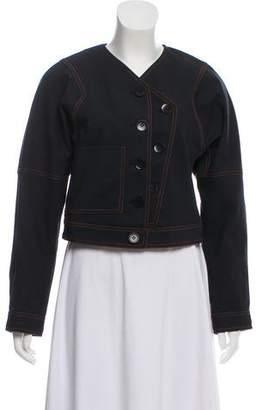 Tibi Cropped Casual Jacket