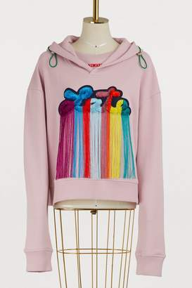 Mira Mikati Late patch cotton hoodie