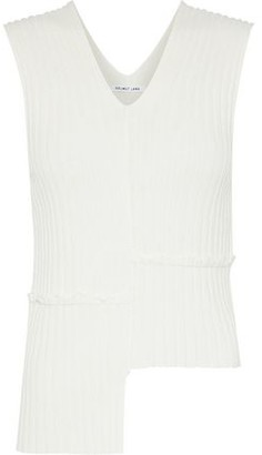 Helmut Lang Asymmetric Ribbed-Knit Top