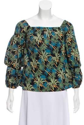 Petersyn Off-The-Shoulder Printed Top w/ Tags