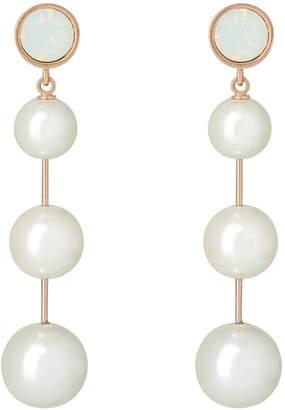 Jolie White Opal Crystals Earrings
