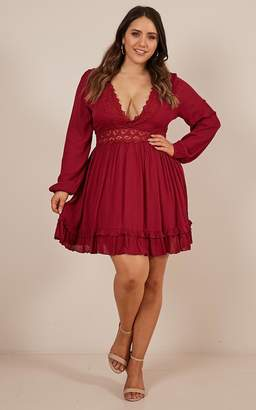 Showpo Sweet Lady Dress in wine - 4 (XXS) Party Dresses