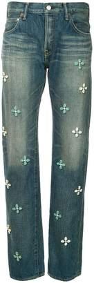 Tu Es Mon Trésor Bijoux flower Antique jeans