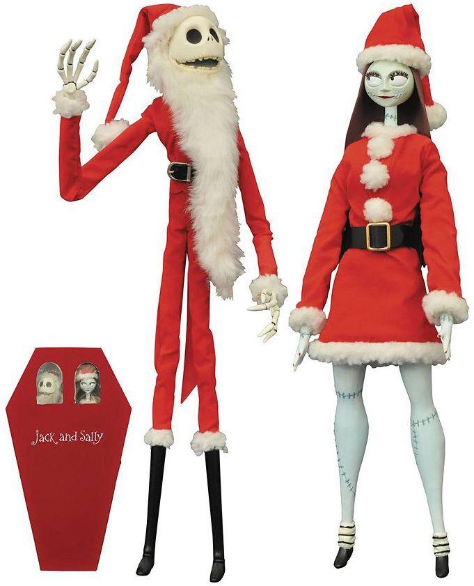 Diamond select toys Disney's Nightmare Before Christmas Santa Jack Skellington & Sally Coffin Doll Set by Diamond Select Toys