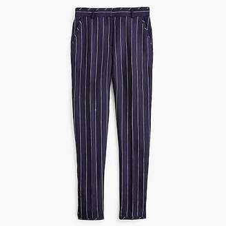 J.Crew Tall easy pant in pinstriped linen