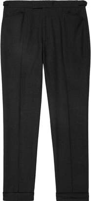 Reiss Pulse - Wool Slim Fit Trousers in Charcoal