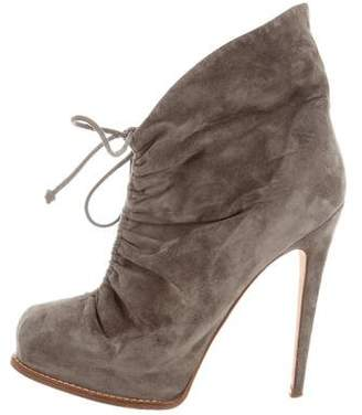 Brian Atwood Suede Round-Toe Ankle Boots outlet best sale fashionable cheap online shop offer for sale where can you find on hot sale XRqv1f8L