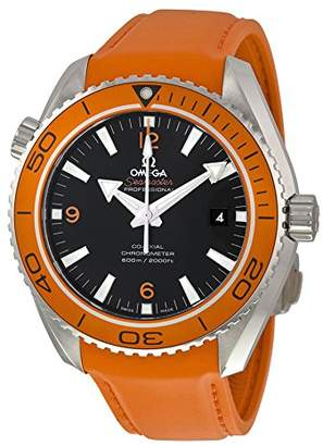 Omega Seamaster Planet Ocean Orange Silicone Rubber Men's Watch 23232462101001