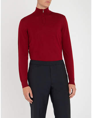 Emporio Armani Zipped funnel-neck wool jumper
