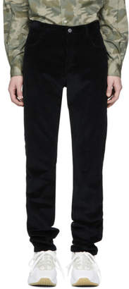 A.P.C. Black Corduroy Baggy Trousers