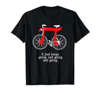 Pi Funny It Just Keeps Going And Going And Going Bicycle Day T-Shirt