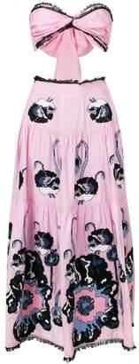 Yuliya Magdych cut-out poppy print dress