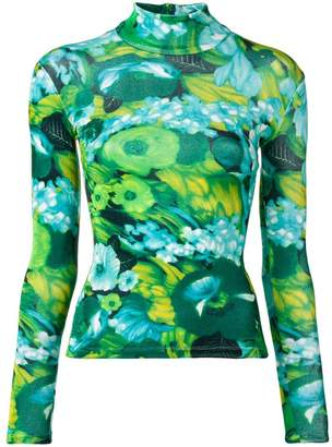 Richard Quinn floral turtleneck top