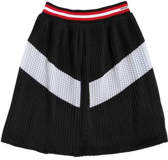 Givenchy Two Tone Plisse Mesh Skirt