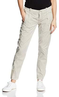 Timezone Women's Jannytz Chino Pants Trousers - Grey - UK 6