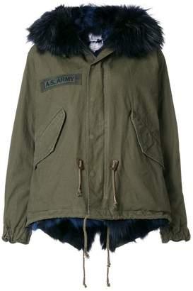 As65 fur-trim zipped jacket