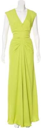 Lela Rose V-Neck Evening Dress w/ Tags