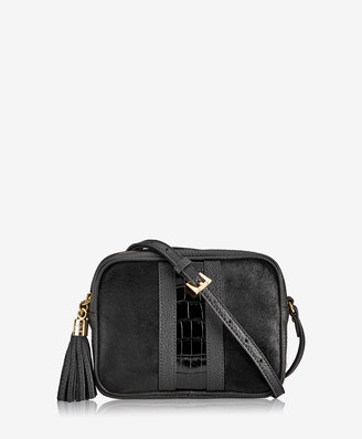 GiGi New York Maddie Crossbody, Black Italian Haircalf
