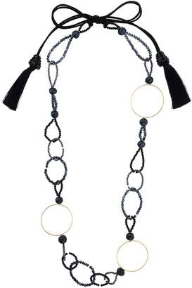 Night Market bead and ring long necklace