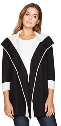 Kasper Women's 3/4 Sleeve Double Faced Open Cardigan