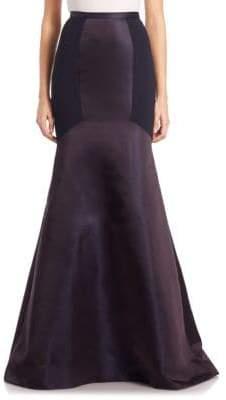 Theia Colorblock Crepe Mermaid Skirt