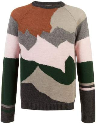 Lanvin colour-block jumper