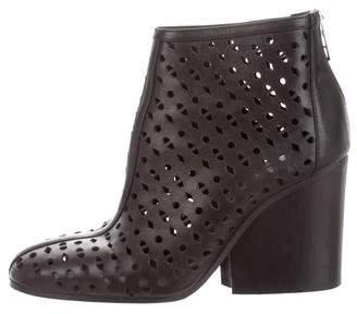 Hermes Lasercut Ankle Boots