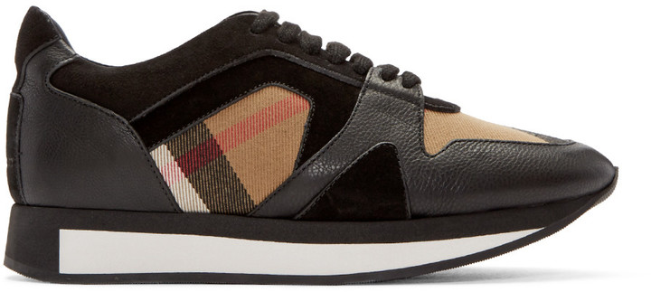 Burberry Black Housecheck Field Sneakers