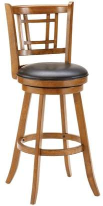Hillsdale Furniture Fairfox Swivel Counter Stool, Medium Oak