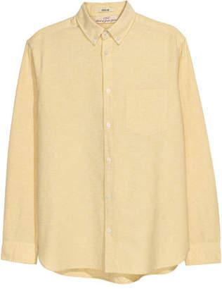 H&M Oxford Shirt Regular fit - Yellow