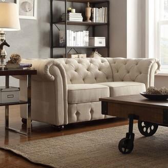 Homevance HomeVance Vanderbilt Tufted Love Seat
